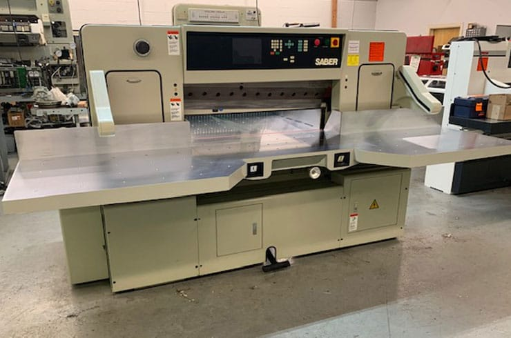 """Used Saber 45"""" 116S Paper Cutter Thumnail Photo Two"""