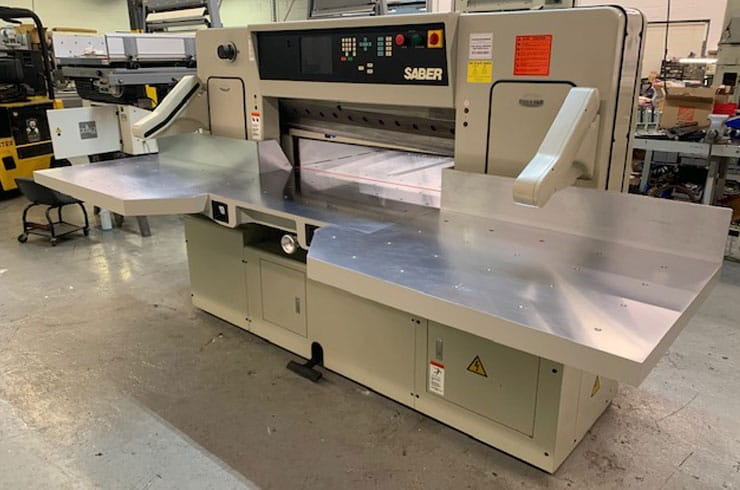 """Used Saber 45"""" 116S Paper Cutter Thumnail Photo Three"""
