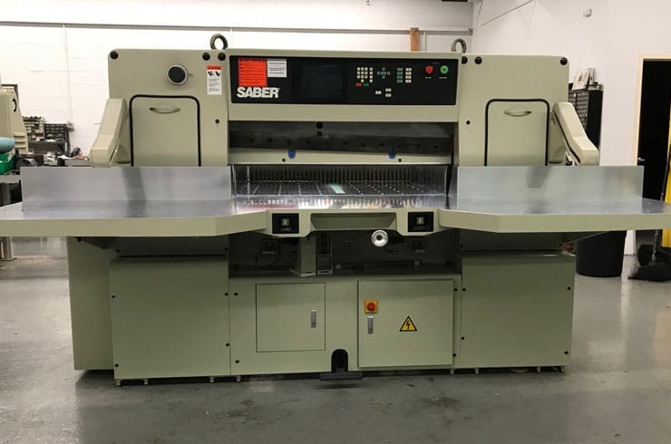 "Used Saber 45"" 115 Paper Cutter Machine"