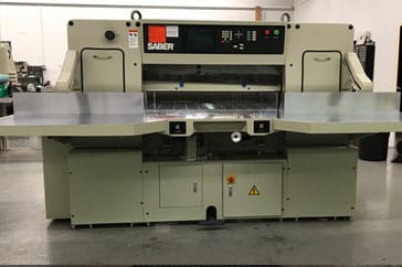 "Used 45"" Saber Paper Cutter 115 Machine"