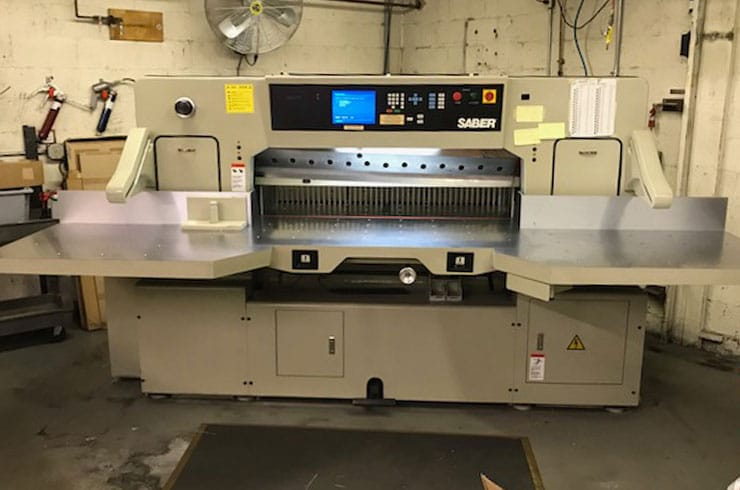 "Used Saber 54"" 137 Paper Cutter Machine"