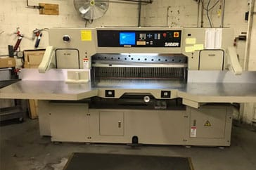 "Used 54"" Saber Paper Cutter 137 Machine"