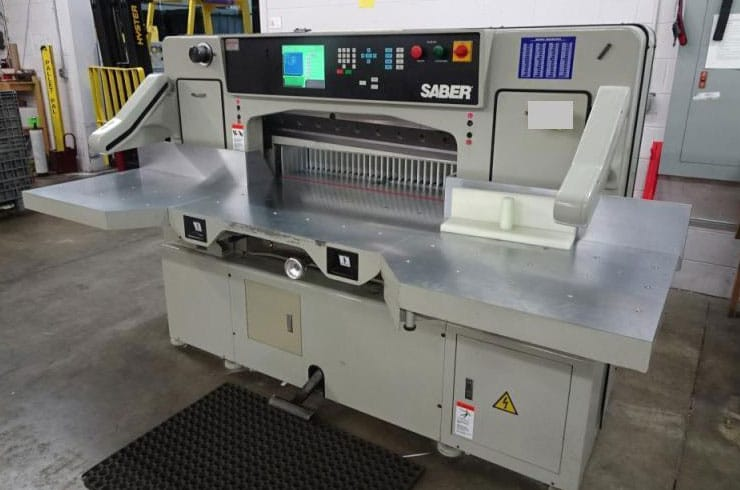"Used Saber 37"" 95 Paper Cutter Machine"