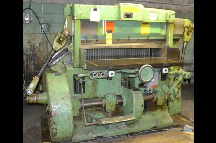 "Used Harris Seybold 51"" 51 10Z Paper Cutter Machine"