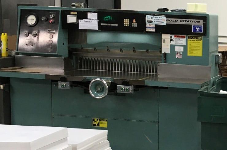 "Used Harris Seybold 42"" Citation Paper Cutter Machine"