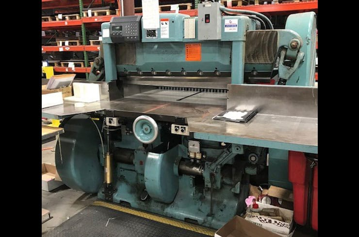 "Used Harris Seybold 45"" CF Paper Cutter Machine"