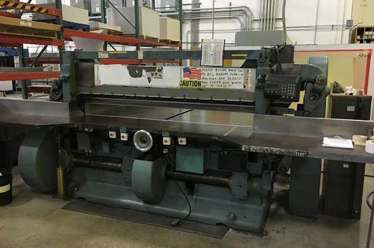 """Used Harris Seybold 85"""" 85 CF Paper Cutter Machine"""