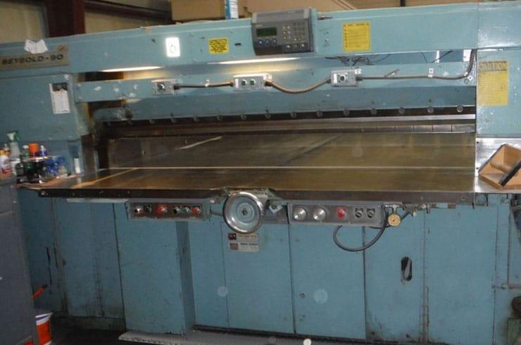 """Used Harris Seybold 90"""" 90 CMH Paper Cutter Machine"""