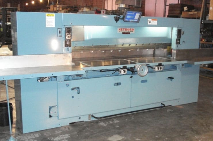 "Used Harris Seybold 85"" 85 CJ Paper Cutter Machine"