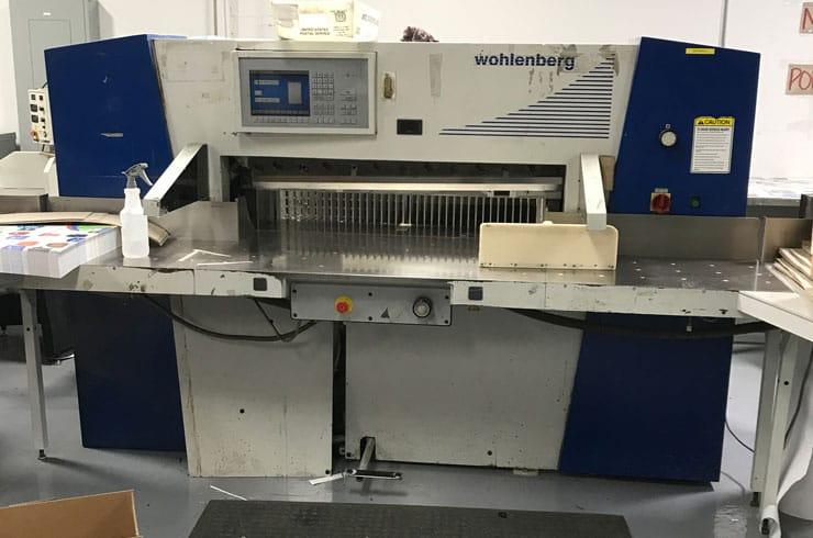 """Used Wohlenberg 45"""" 115 Cut Tec Paper Cutter Machine"""
