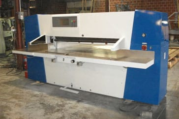 "Used 54"" Wohlenberg Paper Cutter 137 Cut Tec Machine"
