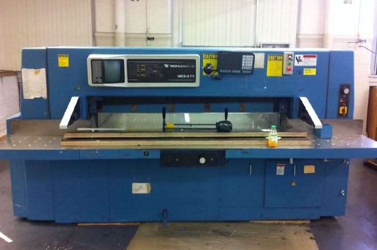 "Used Wohlenberg 54"" 137 MCS III Paper Cutter Machine"