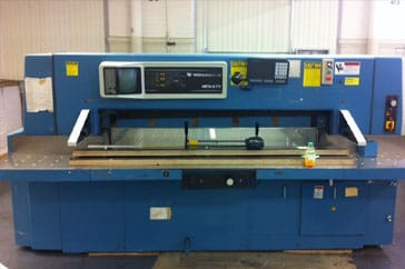 "Used 54"" Wohlenberg Paper Cutter 137 MCS III Machine"