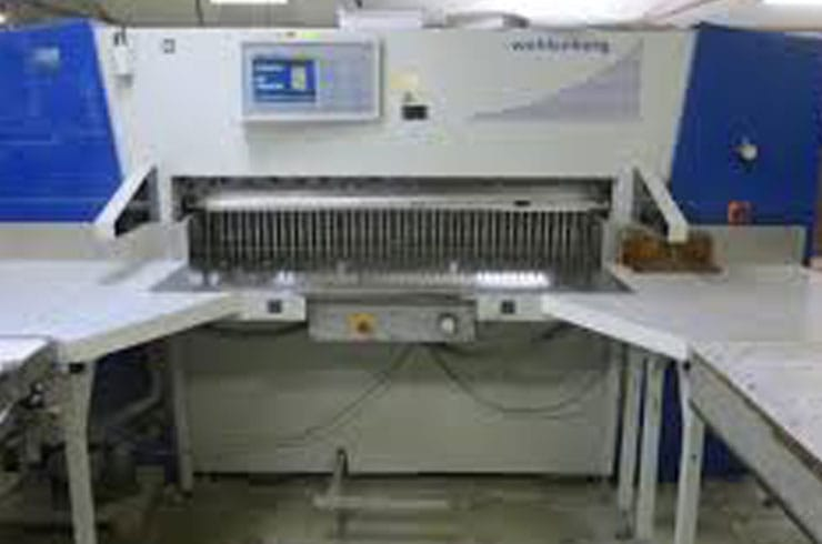 "Used Wohlenberg 61"" 155 Cut Tec Paper Cutter Machine"