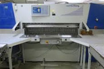 "Used 61"" Wohlenberg Paper Cutter 155 Cut Tec Machine"