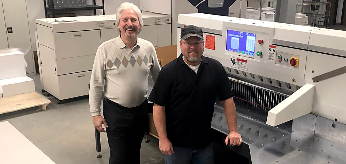 PRISM paper cutter saves time direct mail campaigns