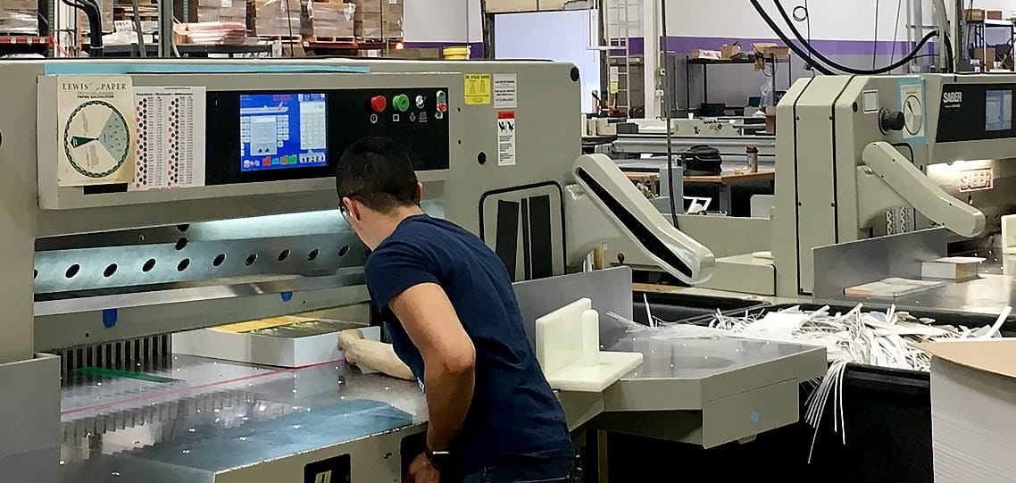 SABER paper cutter saves money for print shop