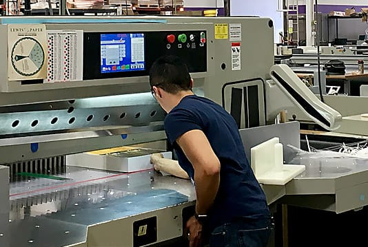 SABER paper cutter saves money for print shop