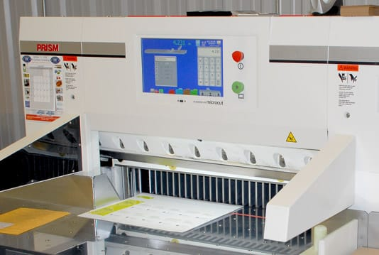 PRISM paper cutter improves productivity for print shop