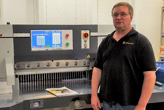 The new PRISM paper cutter at Michigan Technological University's in-plant operation.