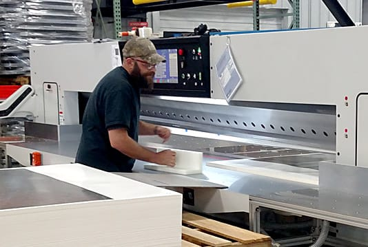 Large format paper cutter for print and screen shop