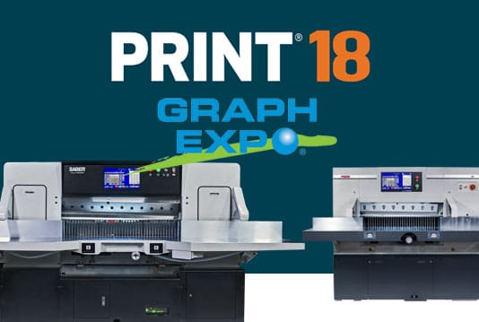 SABER and PRISM paper cutters at Print18