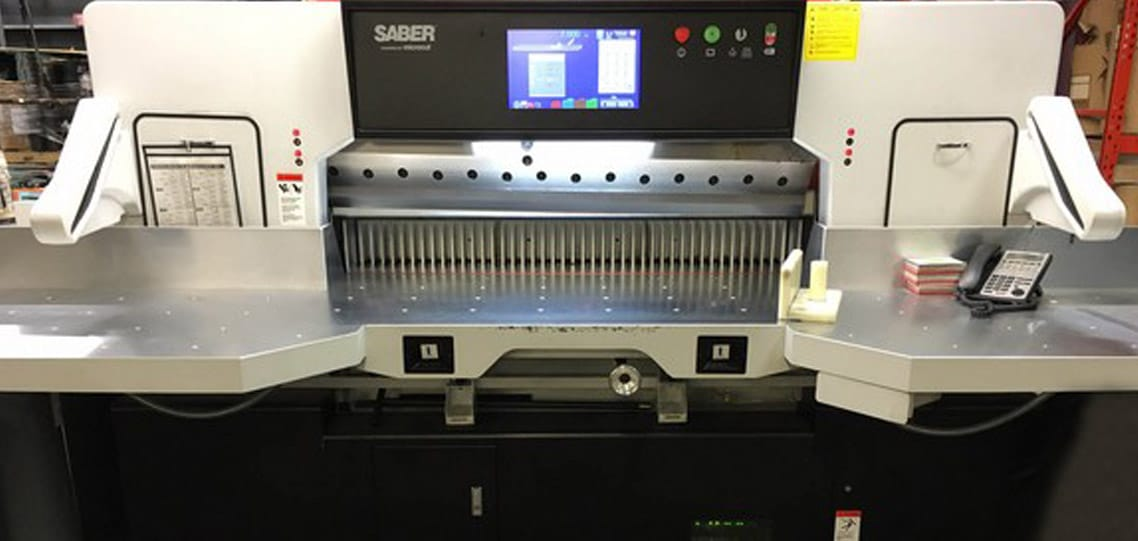 SABER paper cutter saves times for packaging company