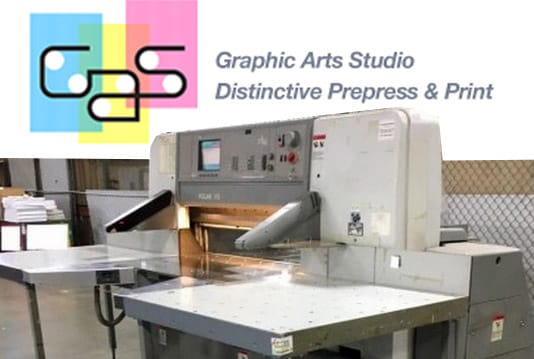 Graphics Art Studios buys Polar paper cutter and paper jogger